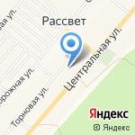 Фельдшерско-акушерский пункт на карте Рассвета