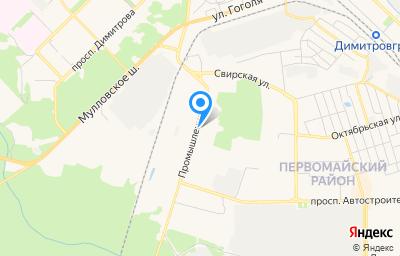 Местоположение на карте пункта техосмотра по адресу Ульяновская обл, г Димитровград, ул Промышленная, зд 53