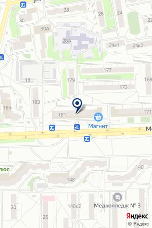 МАГАЗИН МЕБЕЛЬ БРАТЬЕВ БАЖЕНОВЫХ на карте Кирова