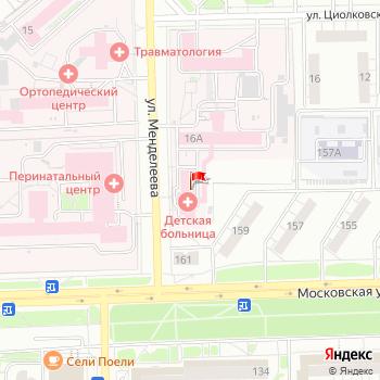 г. Киров, ул. Менделеева,18 на карта