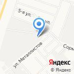 Киров-Ёлка на карте Кирова
