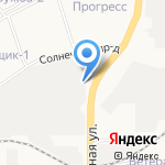 Синегорье на карте Кирова