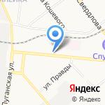 Зеленый круг на карте Кирова
