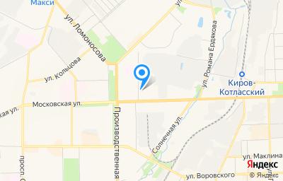Местоположение на карте пункта техосмотра по адресу г Киров, проезд Студенческий, д 18