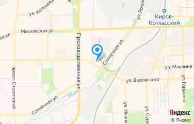 Местоположение на карте пункта техосмотра по адресу г Киров, ул Воровского, д 113А