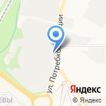Колёсник на карте Кирова