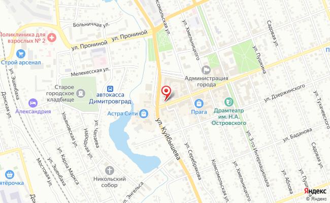 Карта расположения пункта доставки Пункт выдачи в городе Димитровград