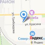Средняя общеобразовательная школа №32 на карте Кирова