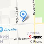 Средняя общеобразовательная школа №59 на карте Кирова