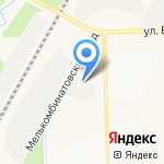 Кировтехстрой на карте Кирова