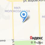 Поликлиника №8 на карте Кирова
