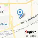 Железнодорожный страховой фонд на карте Кирова