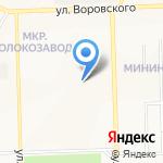 Вяткажилстрой на карте Кирова