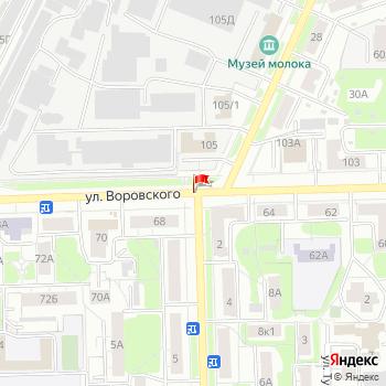 г. Киров, ул. Воровского, на карта