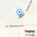 Автотранспортное предприятие Кировского молочного комбината на карте Кирова