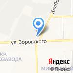 Кировский молочный комбинат на карте Кирова