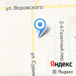 Центральная коммунальная служба на карте Кирова