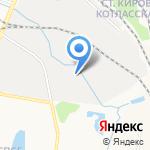 Осьминог на карте Кирова