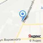 Ивкинские луга на карте Кирова