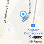 Дубрава на карте Кирова