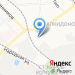Детско-юношеский центр Октябрьского района на карте Кирова