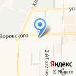 Кировская прокуратура по надзору за исполнением законов на особорежимных объектах на карте Кирова