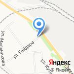 Крем на карте Кирова