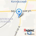 Горница на карте Кирова
