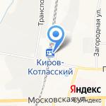 Киров-Котласский на карте Кирова
