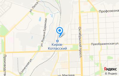 Местоположение на карте пункта техосмотра по адресу г Киров, пер Энгельса, д 4В
