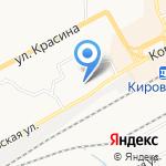 Управление Федеральной службы по надзору в сфере связи на карте Кирова