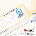 Вятский железнодорожный техникум на карте Кирова