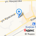 Детский сад №117 на карте Кирова