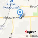 Стекломир на карте Кирова