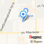 Пуп Земли на карте Кирова