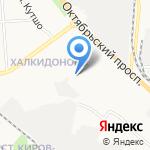 Автостоянка на карте Кирова