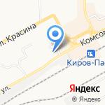 Вятский трест инженерно-строительных изысканий на карте Кирова