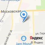 Автолига на карте Кирова