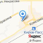 Автобан на карте Кирова