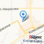 Дачный мир на карте Кирова