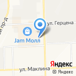Золотая формула-Киров на карте Кирова