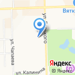 Средняя общеобразовательная школа №57 на карте Кирова