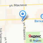 Delice на карте Кирова