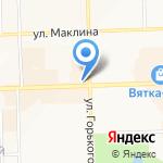 Арсенал на карте Кирова