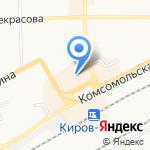 Магазин-салон дверей на карте Кирова