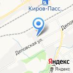 Управление Федеральной почтовой связи Кировской области на карте Кирова