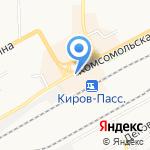 Дороничи на карте Кирова