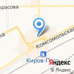 Эльф на карте Кирова