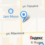 Юго-Запад на карте Кирова