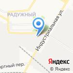 Радужный на карте Кирова